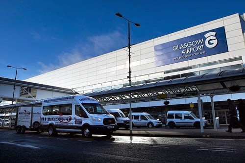 Flying Scot Shuttle outside Glasgow Aiport
